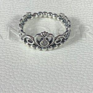 Pandora Genuine 925 Princess Tiara Crown Ring 6.25